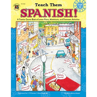 Instructional Fair Teach Them Spanish! Resource Book, Grade 4