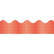 "Carson-Dellosa Publishing 108096 3' x 2.25"" Scalloped Sparkle Borders, Red"