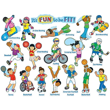 Carson-Dellosa It's Fun to Be Fit Bulletin Board Set