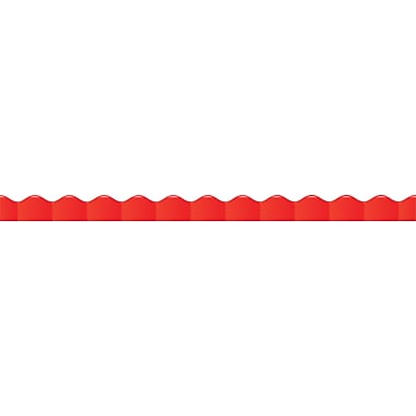 Scholastic 9780545336451 36' x 2.25in. Scalloped Solid Trim, Red