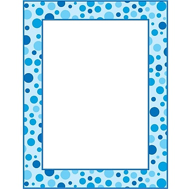 Scholastic Polka Dots Printer Paper, Blue