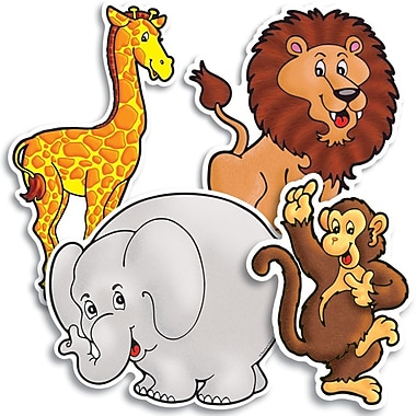Scholastic Zoo Animals Accent Punch-Outs