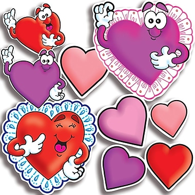 Scholastic Valentines and Hearts Accent Punch-Outs