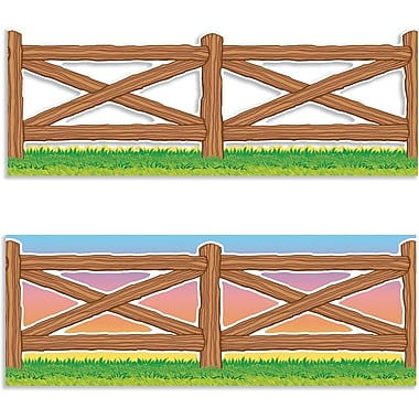 Scholastic Wild West Fence Jumbo Borders