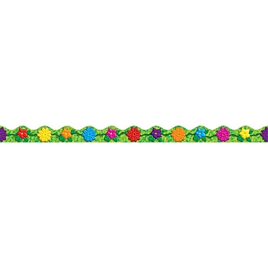 Scholastic Jungle Flowers Scalloped Trimmer