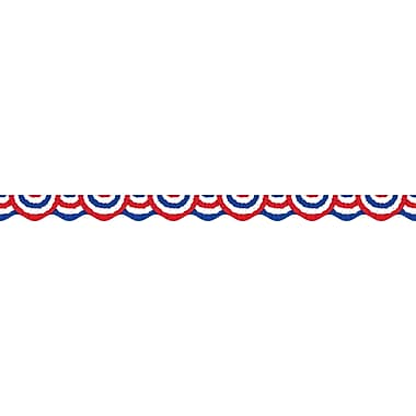 Scholastic Elections, Patriotic Bunting Scalloped Trimmer