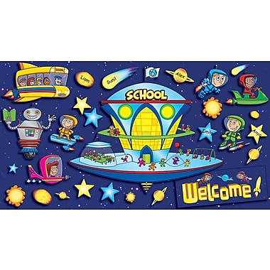 Scholastic Space School Welcome Bulletin Board