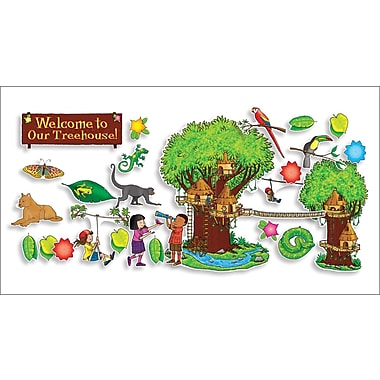 Scholastic Jungle Treehouse Bulletin Board