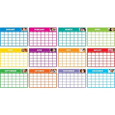 Scholastic Classroom Management, Fill-in Monthly Calendars Bulletin Board