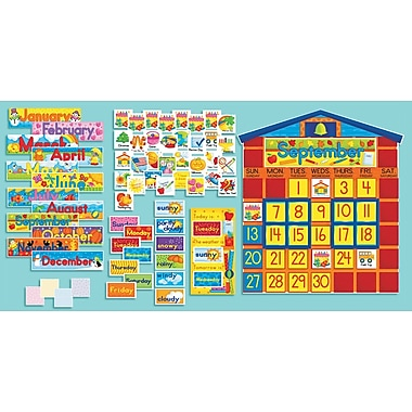 Scholastic All-In-One Schoolhouse Calendar Bulletin Board