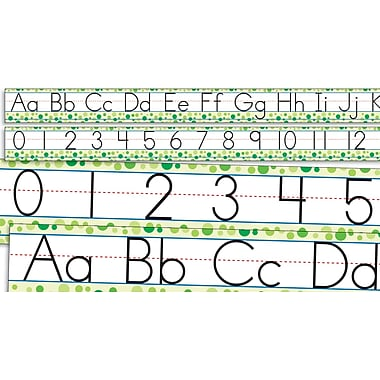 Scholastic Reading, Standard Manuscript Alphabet and Numbers 0-30 Bulletin Board