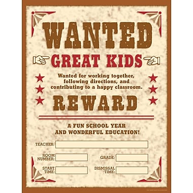Scholastic Wild West Wanted! Chart