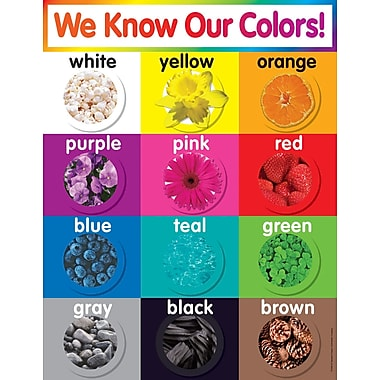 Scholastic Colors Chart
