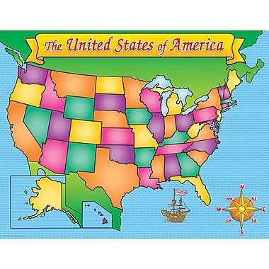 Scholastic Geography and Map Skills, USA Map Chart