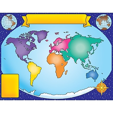 Scholastic Geography and Map Skills, World Map Chart