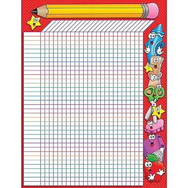 Scholastic School Time Incentive Chart