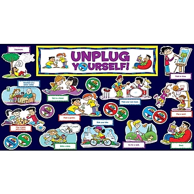 Scholastic Unplug Yourself! Mini Bulletin Board