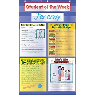 Scholastic Student of the Week Pocket Chart