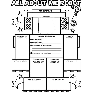 Scholastic Graphic Organizer Posters: All-About-Me Robot (Grades K - 2)