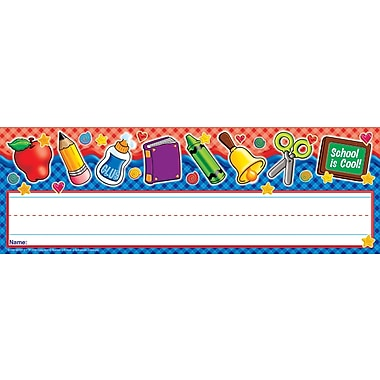 Scholastic School Tools Gingham! Name Plates