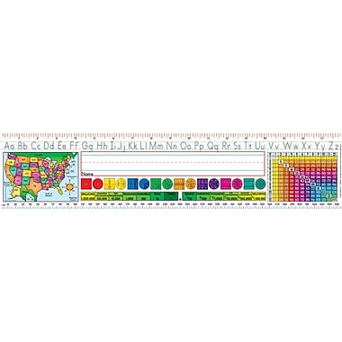 Scholastic Middle Elementary (Standard Manuscript) Super School Tool Name Plates