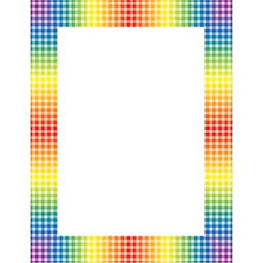 Scholastic Rainbow Gingham Printer Paper
