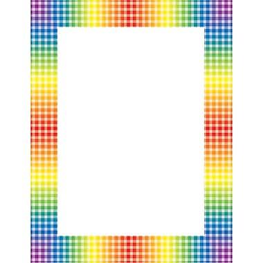 Scholastic Rainbow Gingham Printer Paper