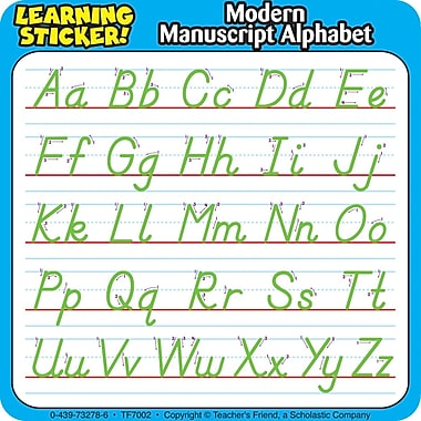 Scholastic ABCs, Modern Manuscript Alphabet Learning Stickers