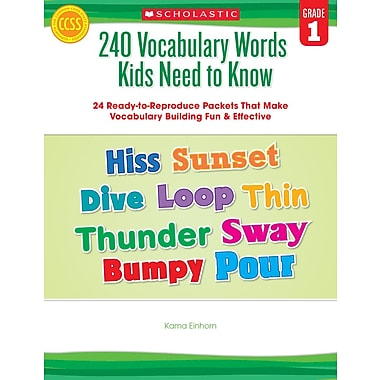 Scholastic 240 Vocabulary Words Kids Need to Know: Grade 1