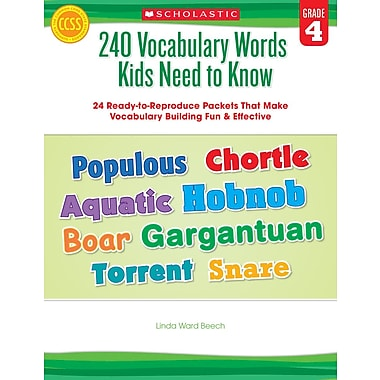 Scholastic 240 Vocabulary Words Kids Need to Know: Grade 4