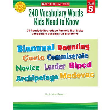 Scholastic 240 Vocabulary Words Kids Need to Know: Grade 5
