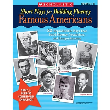 Scholastic Short Plays for Building Fluency: Famous Americans