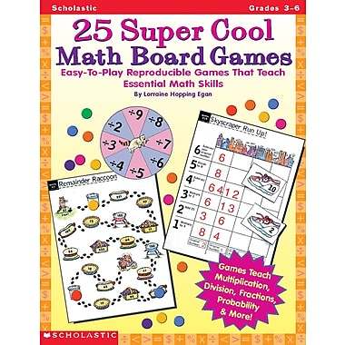 Scholastic 25 Super Cool Math Board Games