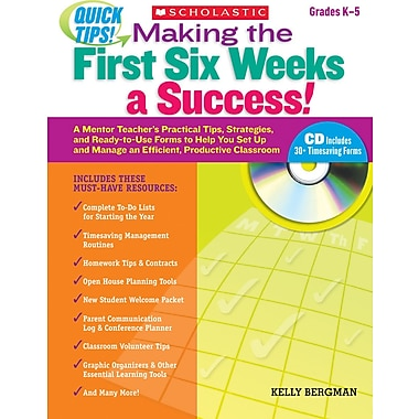Scholastic Quick Tips: Making the First Six Weeks a Success!