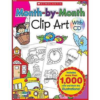 Scholastic Month-by-Month Clip Art Book