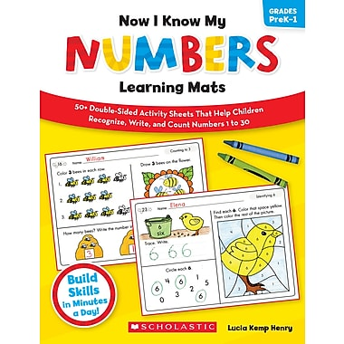 Scholastic Now I Know My Numbers Learning Mats