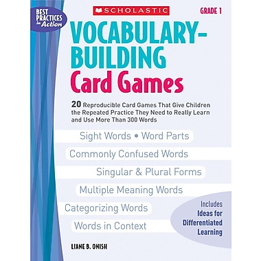 Scholastic Vocabulary-Building Card Games: Grade 1