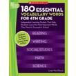 Scholastic 180 Essential Vocabulary Words for 4th Grade