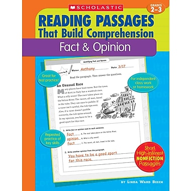 Scholastic Reading Passages That Build Comprehension: Fact & Opinion