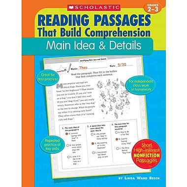 Scholastic Reading Passages That Build Comprehension: Main Idea & Details