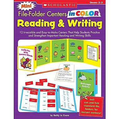 Scholastic Mini File-Folder Centers in Color: Reading & Writing (2-3)