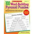 Scholastic 100 Word-Building Pyramid Puzzles