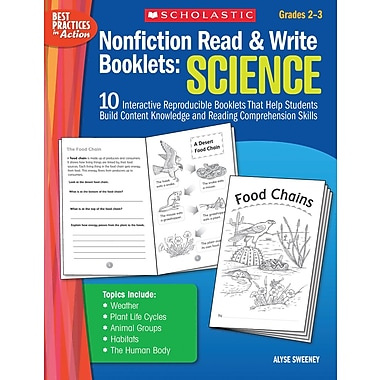 Scholastic Nonfiction Read & Write Booklets: Science