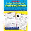 Scholastic Instant Content Area Vocabulary Packets
