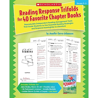 Scholastic Reading Response Trifolds for 40 Favorite Chapter Books