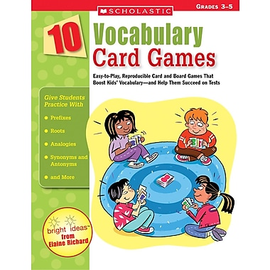 Scholastic 10 Vocabulary Card Games