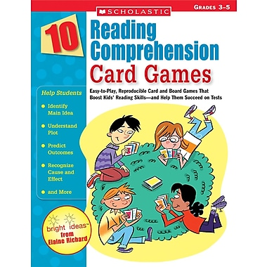 Scholastic 10 Reading Comprehension Card Games