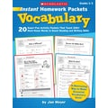 Scholastic Instant Homework Packets: Vocabulary