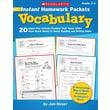 Scholastic Instant Homework Packets: Vocabulary