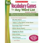 Scholastic Vocabulary Games for Any Word List